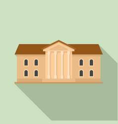 Institute building icon flat style vector
