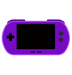 Isolated mobile videogame console icon vector