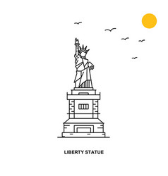 liberty statue monument world travel natural vector image