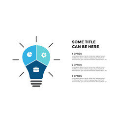light bulb infographic template for vector image