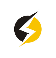 lightning logo design vector image