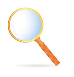 magnification glass orange vector image