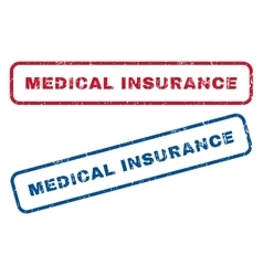 Medical Insurance Rubber Stamps vector