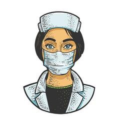 Nurse sketch vector