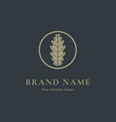 Oak leaf logo design silhouette creative symbol vector