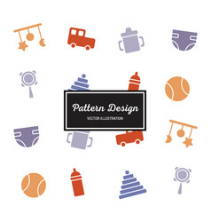 pattern baby vector image