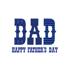 patterned happy fathers day typography vector image