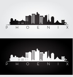 phoenix usa skyline vector image