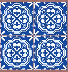 portuguese tiles azulejos seamless pattern vector image