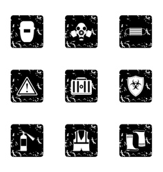 Repairs icons set grunge style vector image