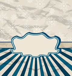 Retro vintage celebration card with snowflakes vector image