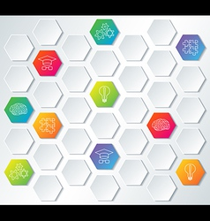 Science and education background vector