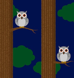 Seamless owls pattern vector image