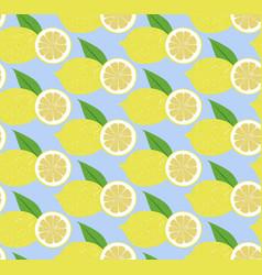 Seamless pattern fruit lemon vector