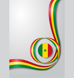 Senegalese flag wavy background vector