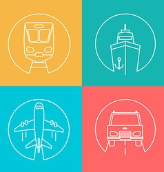 set delivery logo vector image