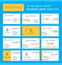 set of 12 crops in hands creative busienss card vector image