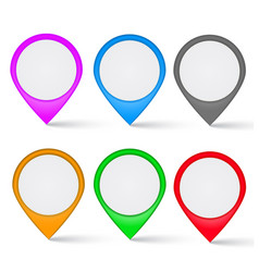 set of multi-colored the map markers vector image
