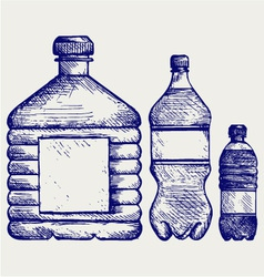 Set of water bottles vector