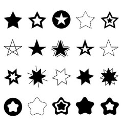 sparkles stars sign symbol icon set hand drawing vector image