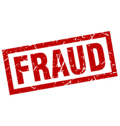 square grunge red fraud stamp vector image