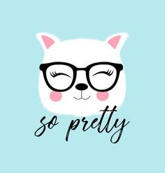 sweet cat print design with slogan vector image