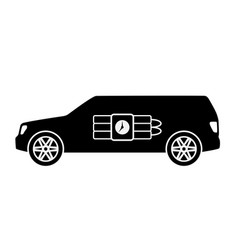 terrorist car with bomb vector image