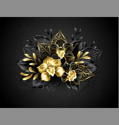Three jewelry orchids vector