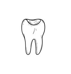 Tooth cavity hand drawn outline doodle icon vector