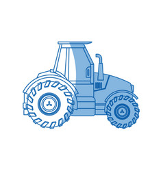 Tractor vehicle agricultural farm machine vector