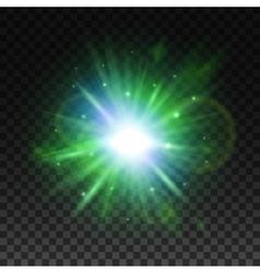 transparent green light effect for art design vector image