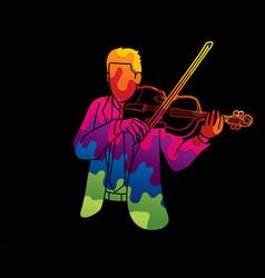 Violin musician orchestra instrument graphic vector