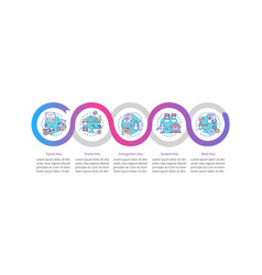 Visa approval infographic template vector