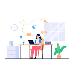 women work from home concept vector image