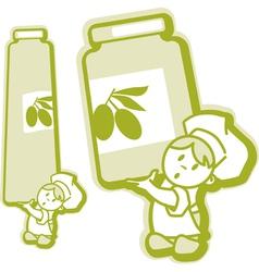 jam jar stickers vector image