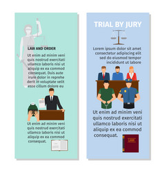 jury and order concept flyers design vector image