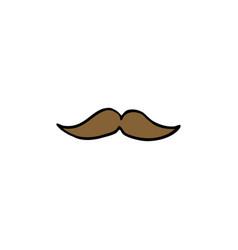mustache doodle icon vector image