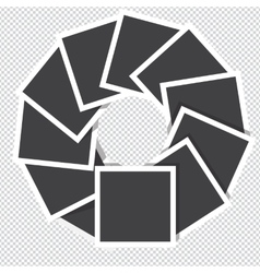 Photo frames rotate counter-clockwise isolated on vector