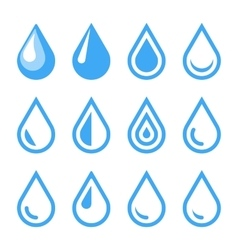 Water Drop Emblem Logo Template Icon Set vector image
