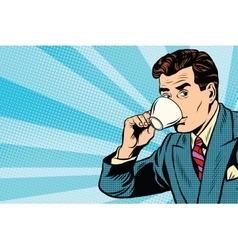 businessman and Cup of coffee vector image