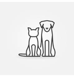 Cat with dog icon vector image vector image