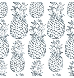Exotic seamless pattern with silhouettes tropical vector image vector image