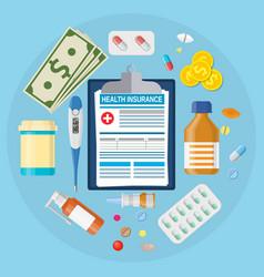 health medical insurance form vector image