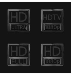 High definition signs vector image