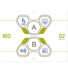 icon set of science signs flat design vector image vector image