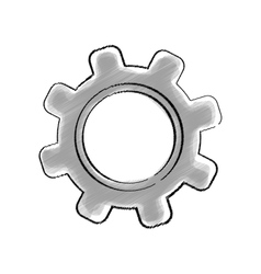 Isolated gear draw vector