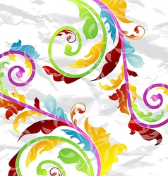 Abstract multicolor floral background design vector image vector image