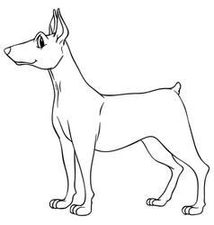 Animal outline for dog vector