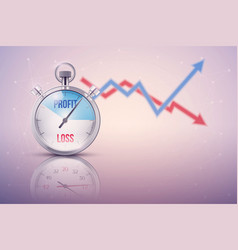 Background of stopwatch for forex trader vector image