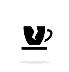 Broken cup icon on white background vector image